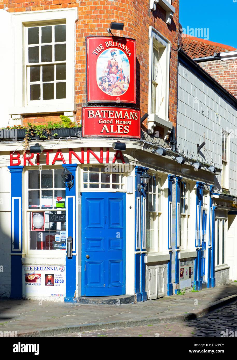 El Britannia Pub, Church Street, Boston, Lincolnshire, Inglaterra Imagen De Stock