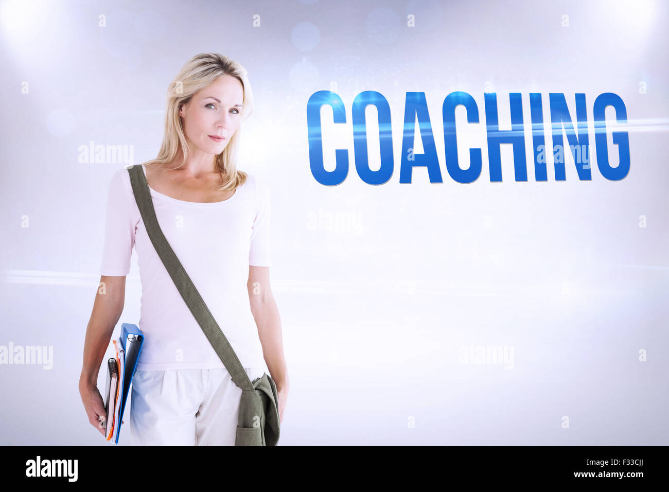 Coaching contra el fondo gris Imagen De Stock
