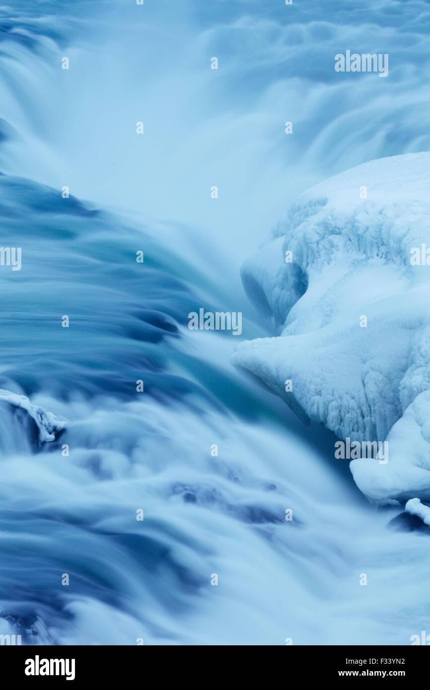 Hielo y agua, Islandia Imagen De Stock