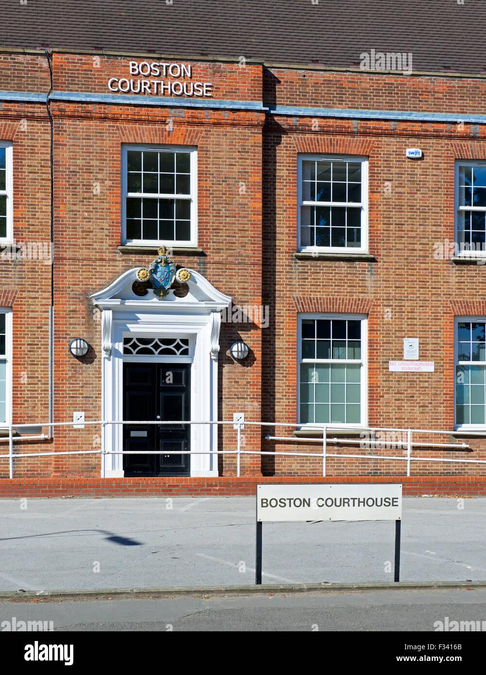 El Courthouse, Boston, Lincolnshire, Inglaterra Imagen De Stock