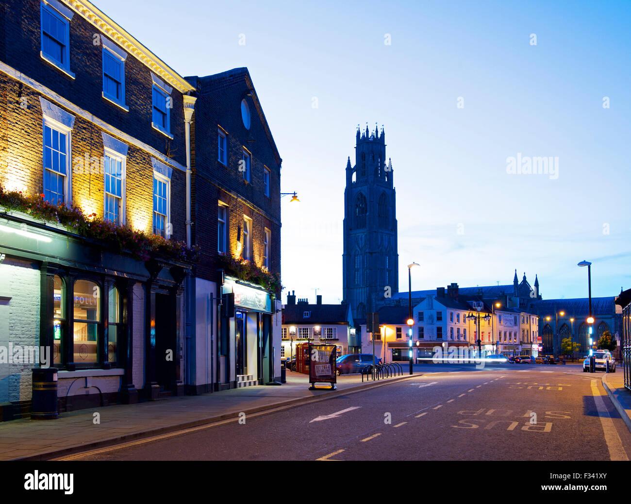 En la penumbra de Boston, Lincolnshire, Inglaterra Imagen De Stock