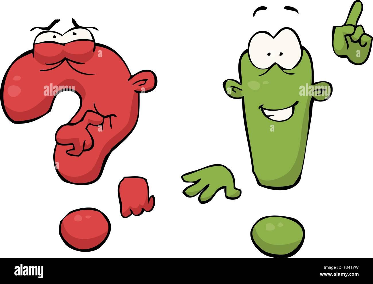Cartoon Signos De Admiración O Interrogación