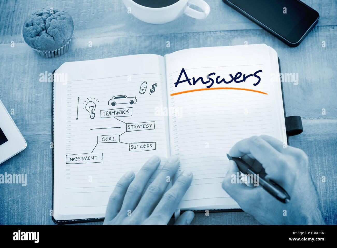Respuestas contra el concepto empresarial vector Imagen De Stock
