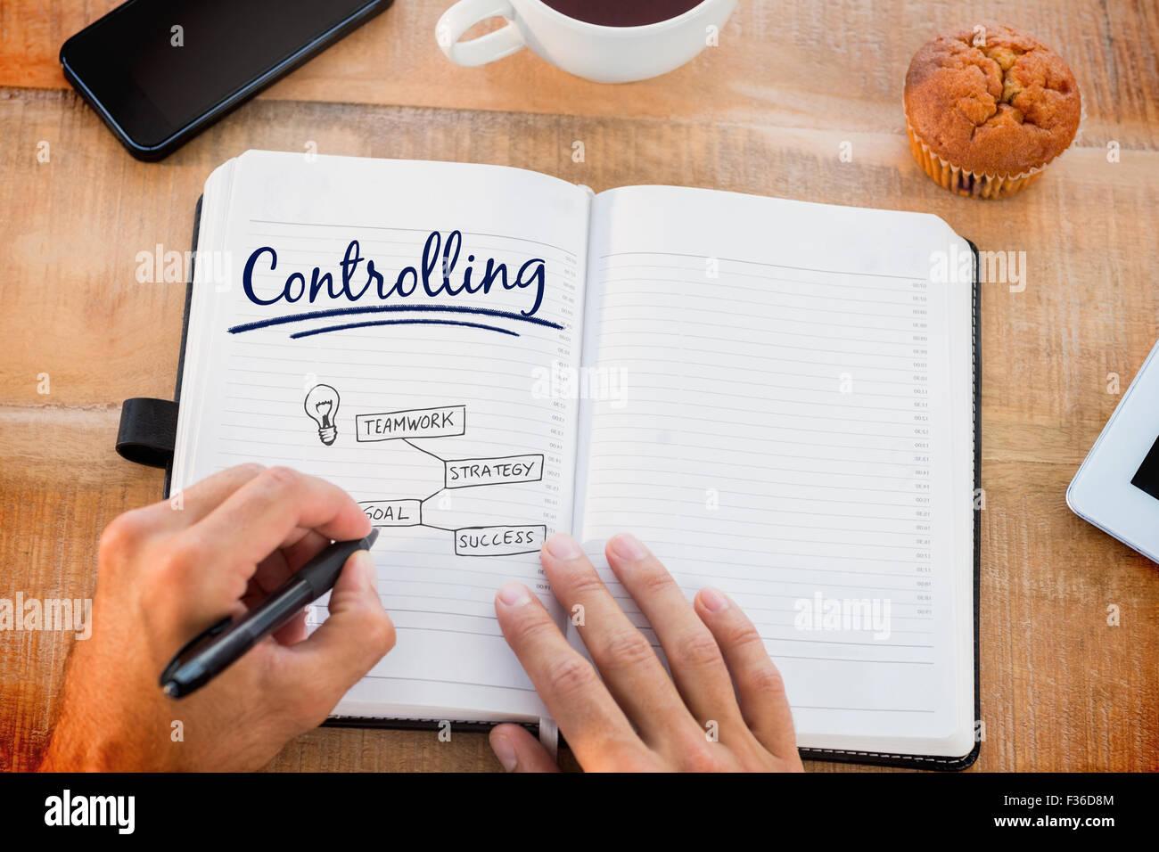 Control de vectores contra el concepto empresarial Imagen De Stock