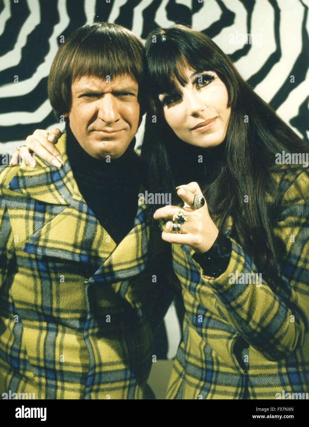SONNY Y CHER US dúo vocal en su comedia americana hora TV show acerca de 1972 Imagen De Stock
