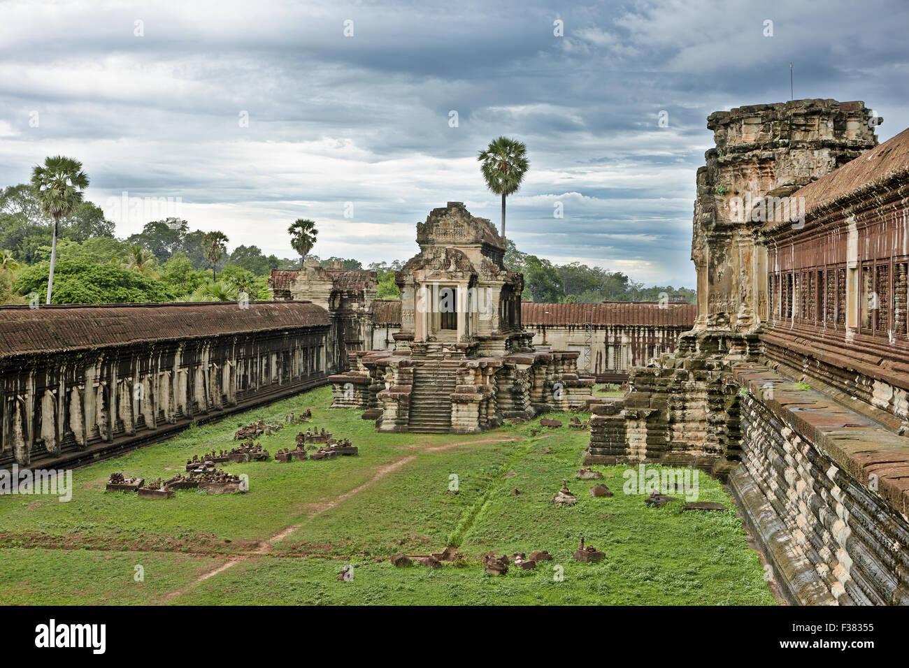 Templo de Angkor Wat. Parque arqueológico de Angkor, de la provincia de Siem Reap, Camboya. Imagen De Stock