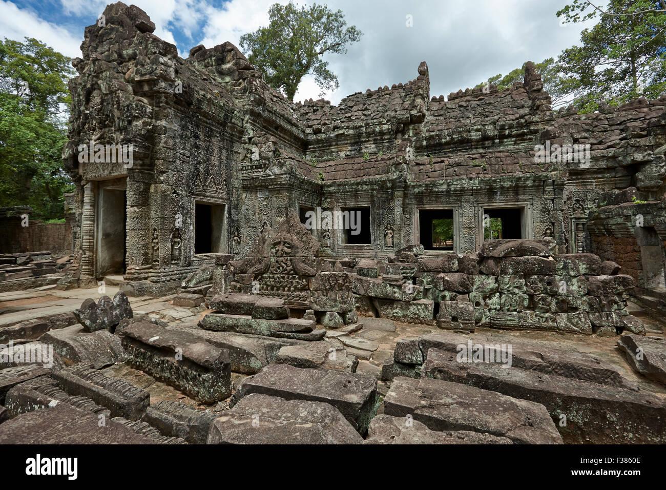 Templo de Preah Khan. Parque arqueológico de Angkor, de la provincia de Siem Reap, Camboya. Imagen De Stock