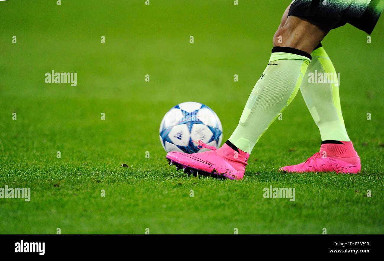 Moenchengladbach, Alemania. El 30 de septiembre, 2015. Liga de Campeones de la UEFA 2015/16, prliminary ronda, segunda Imagen De Stock