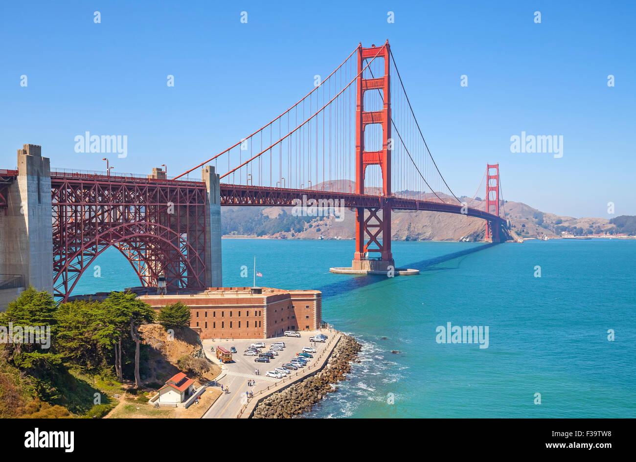 Puente Golden Gate en San Francisco, Estados Unidos. Imagen De Stock