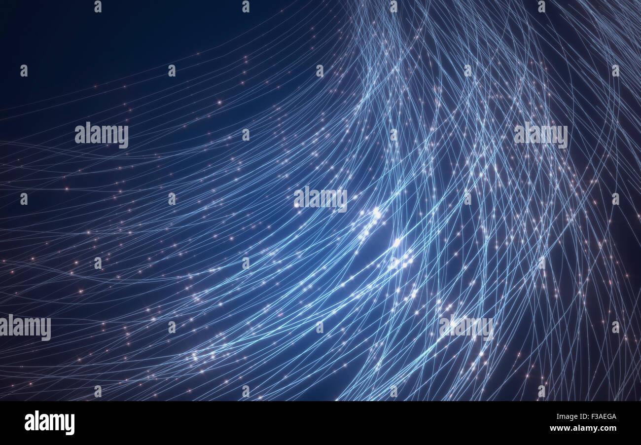 La fibra óptica, equipo de ilustración. Imagen De Stock