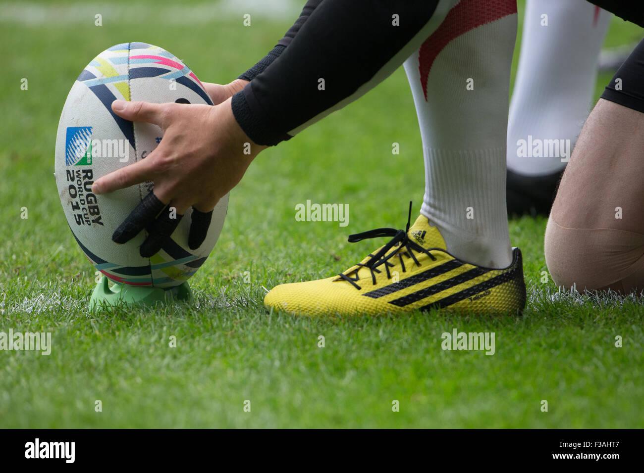 Estadio MK, Milton Keynes, Reino Unido. 3 Oct 2015. La Rugby World Cup 2015 Match 24 - Samoa V en Japón. Crédito: Imagen De Stock