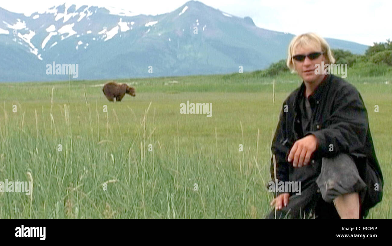 GRIZZLY MAN película de 2005 con Timothy Treadwell Imagen De Stock