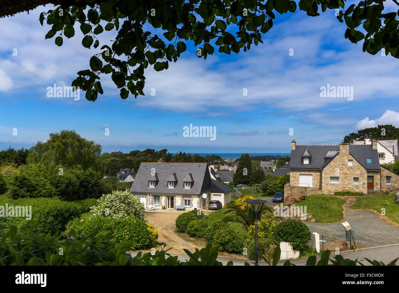 La Clarte Perros Guirec Bretaña francesa France Europe Imagen De Stock