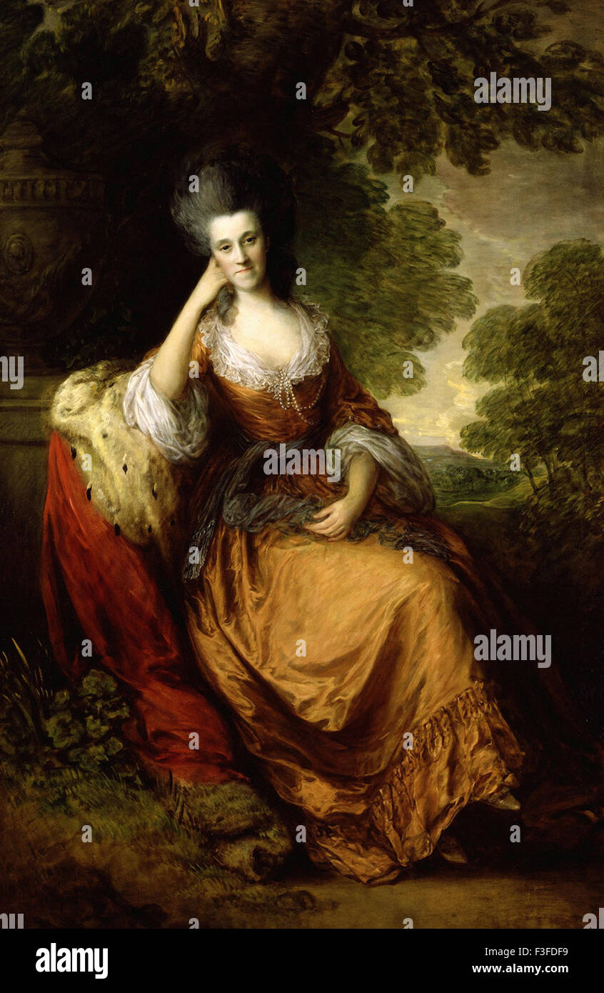 Thomas Gainsboroug - Lady Anne Hamilton Imagen De Stock