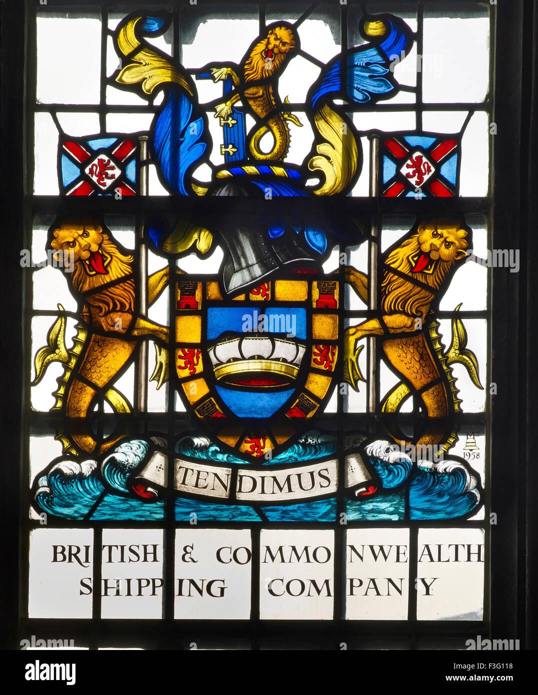 All Hallows por la compañía naviera, la ventana de la torre Imagen De Stock