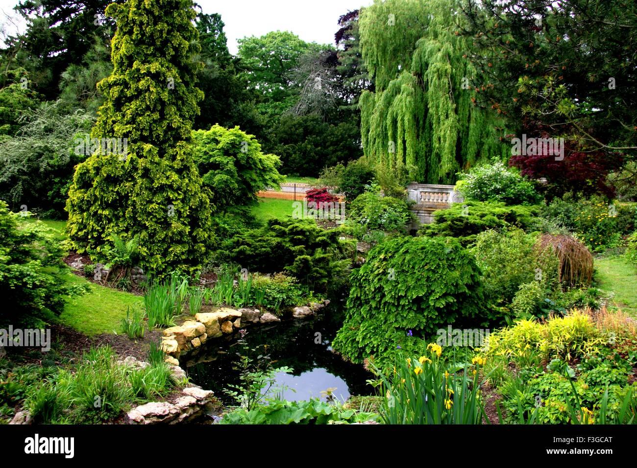 Agradable y peculiar paisaje inglés de Reino Unido Reino Unido Inglaterra Imagen De Stock