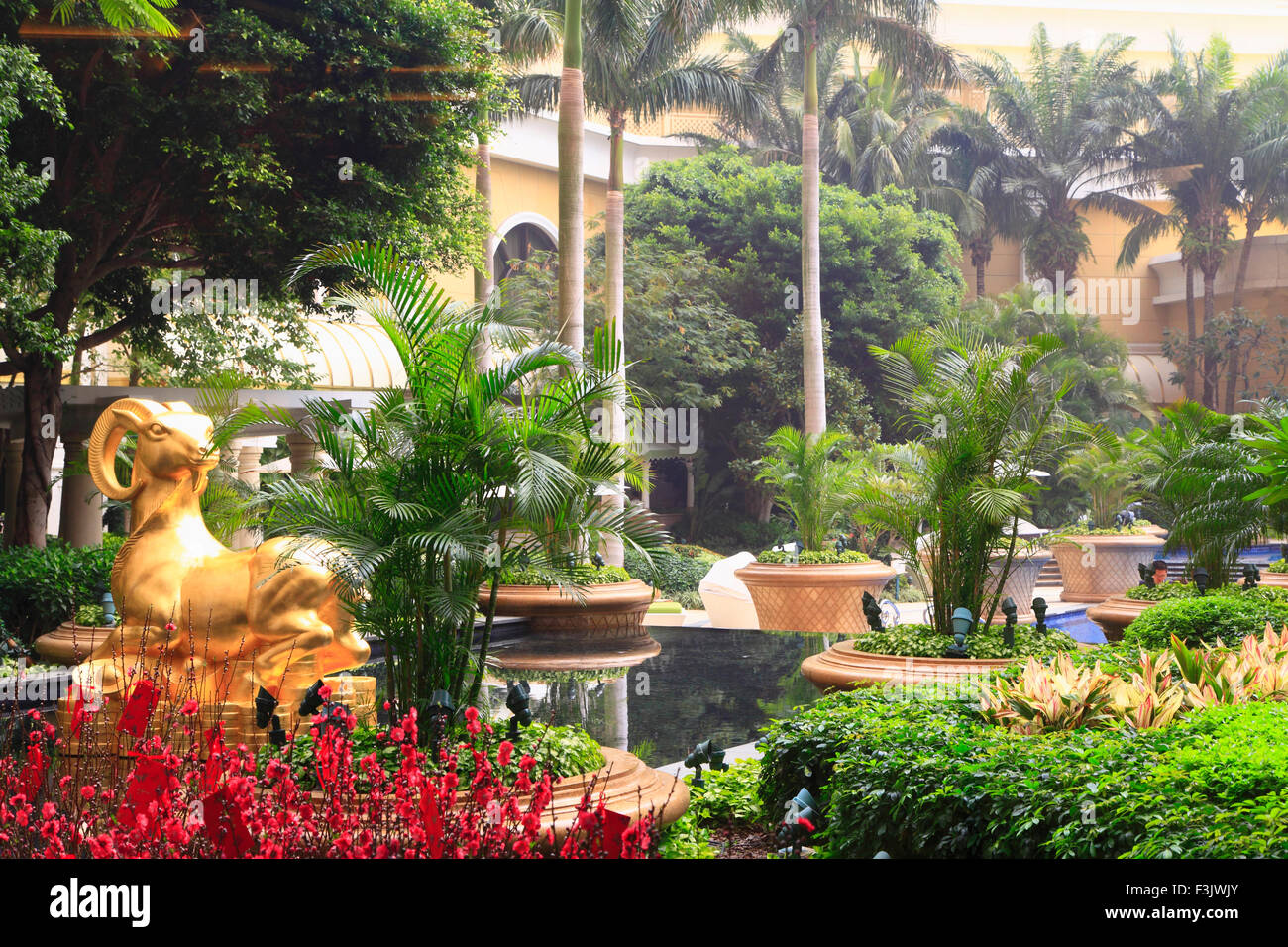 China, Macao, Hotel Wynn, jardín, Imagen De Stock