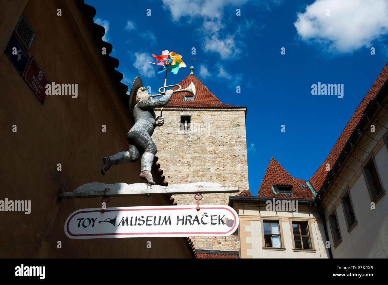 El museo del juguete en el Castillo de Praga, República Checa Foto de stock