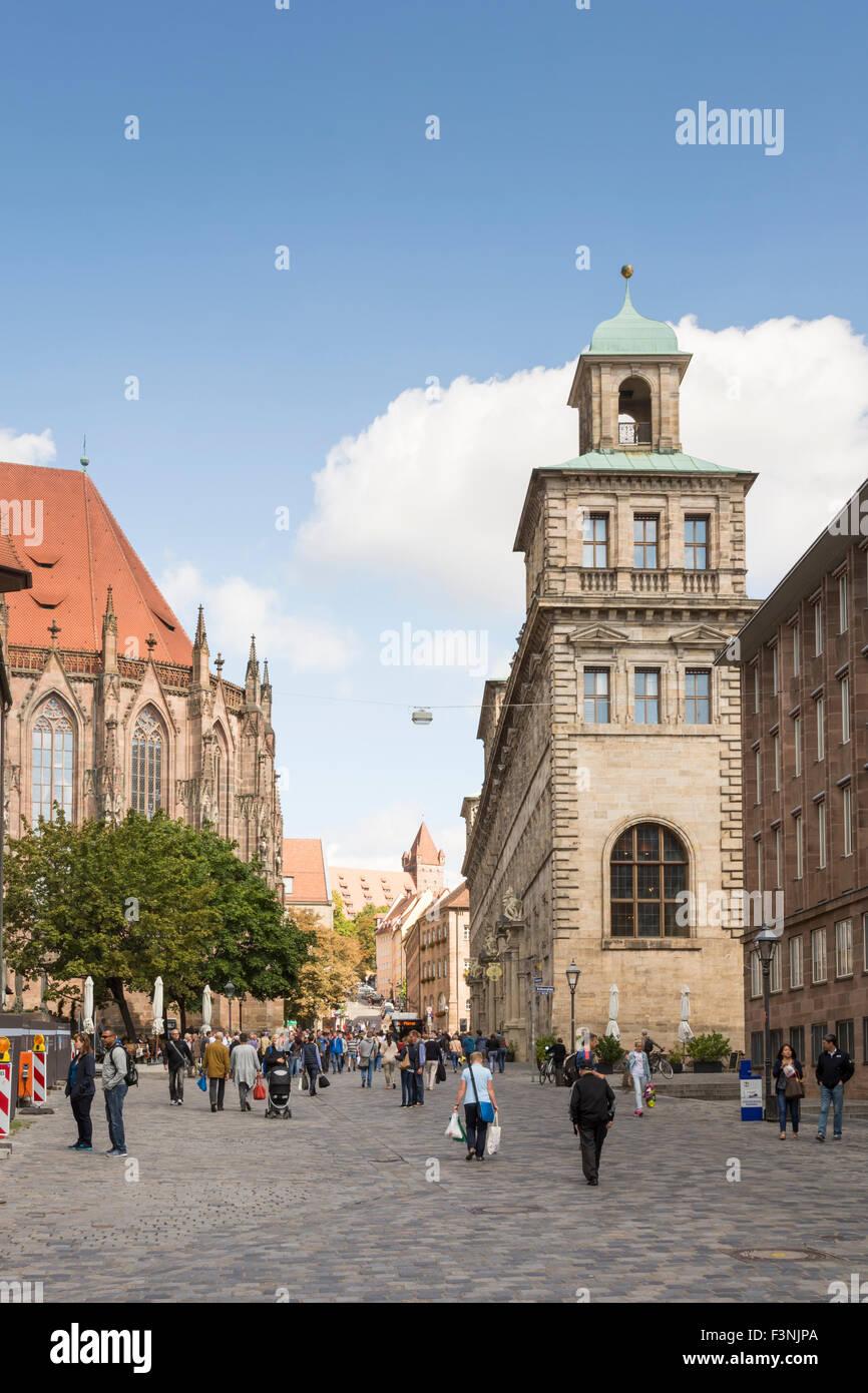 En Núremberg, Alemania - El 5 de septiembre: en el ayuntamiento de la localidad turística de Nuernberg, Imagen De Stock