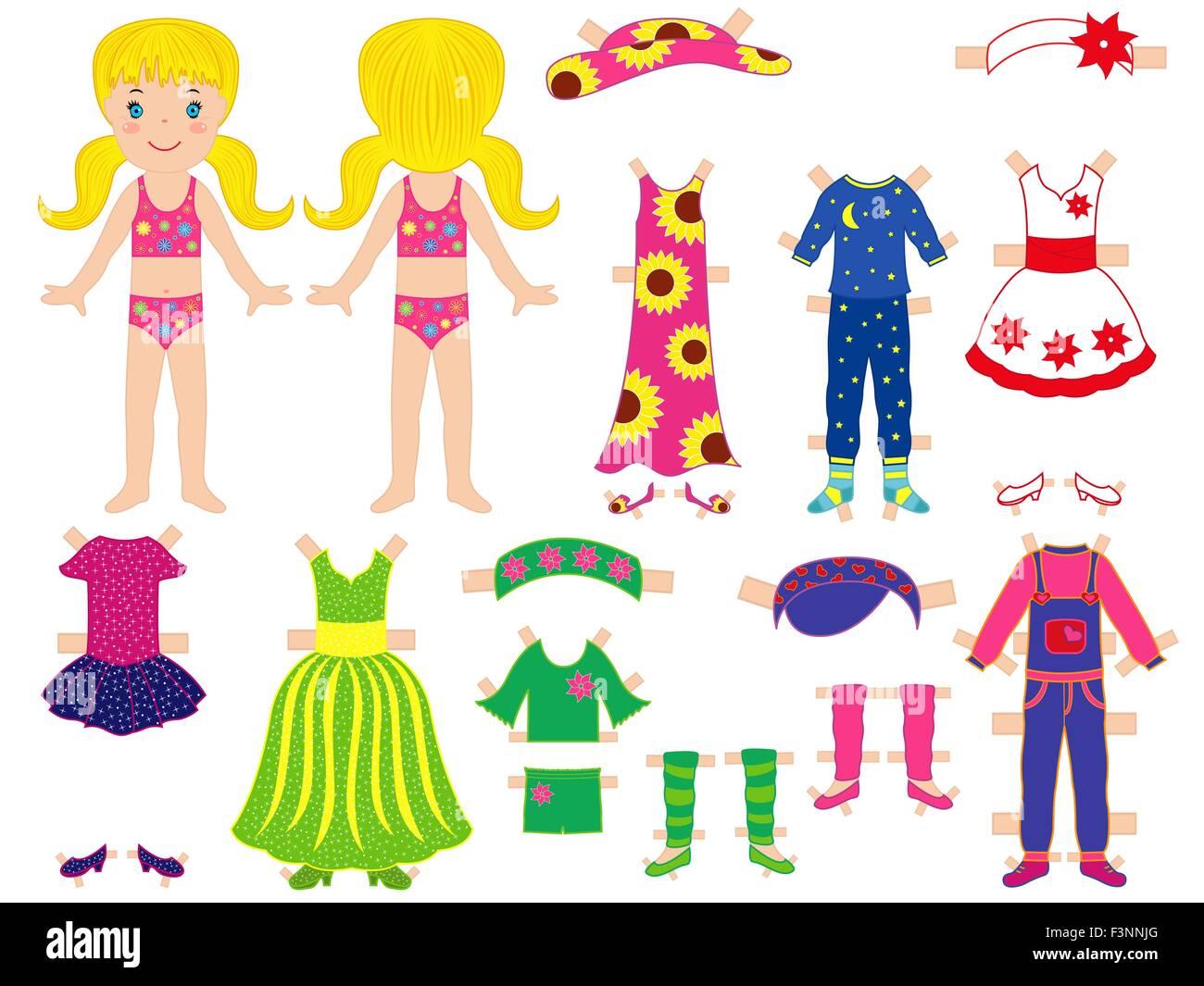 Muñecas De Papel Y Ropa Para Ella Con Clips Tecnológicos