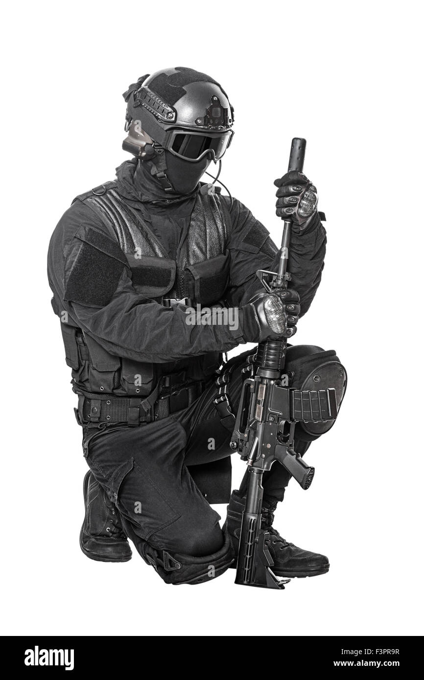 Oficial de policía SWAT Imagen De Stock