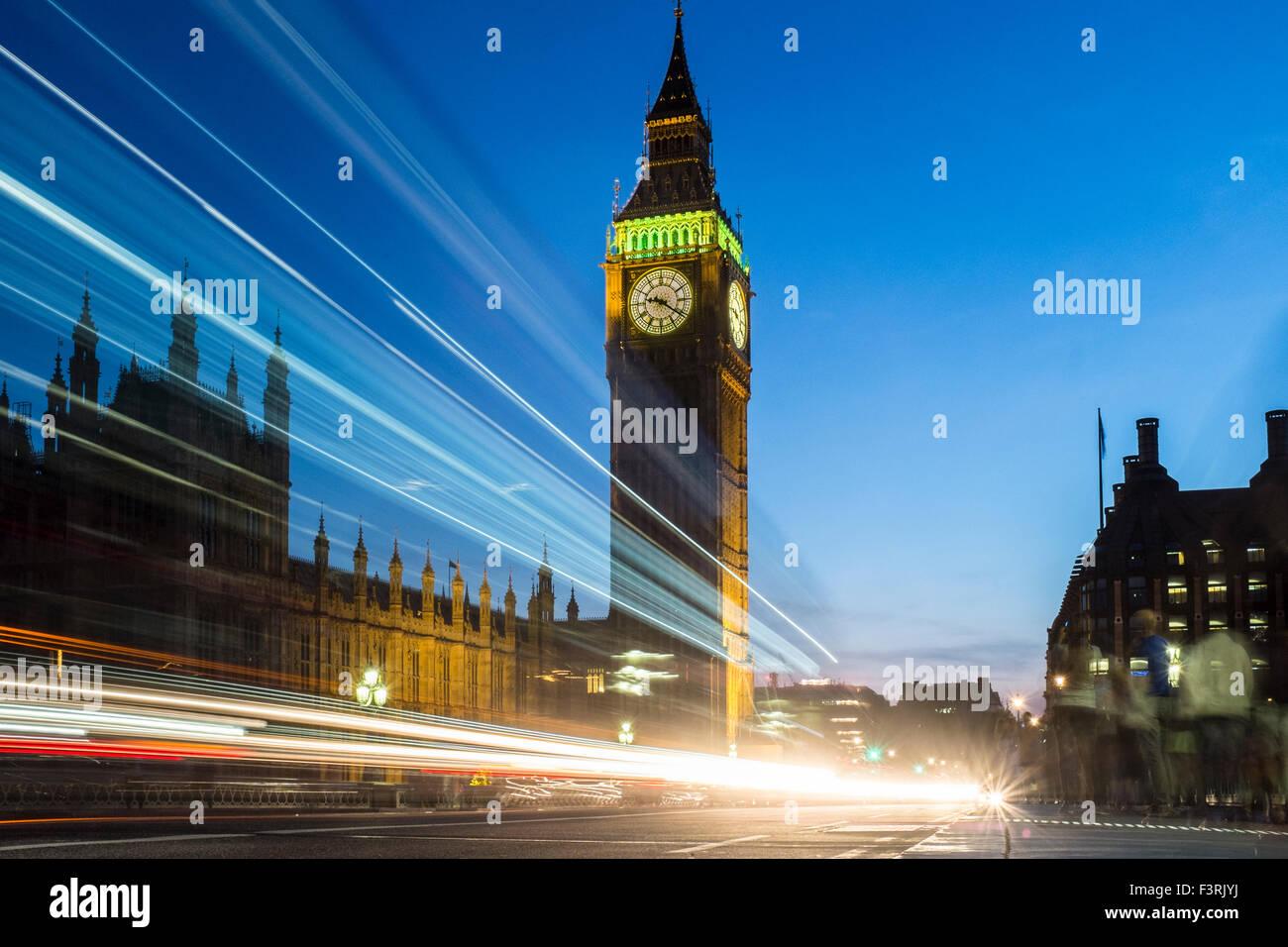 El Big Ben y el Palacio de Westminster, Londres, Reino Unido. Imagen De Stock