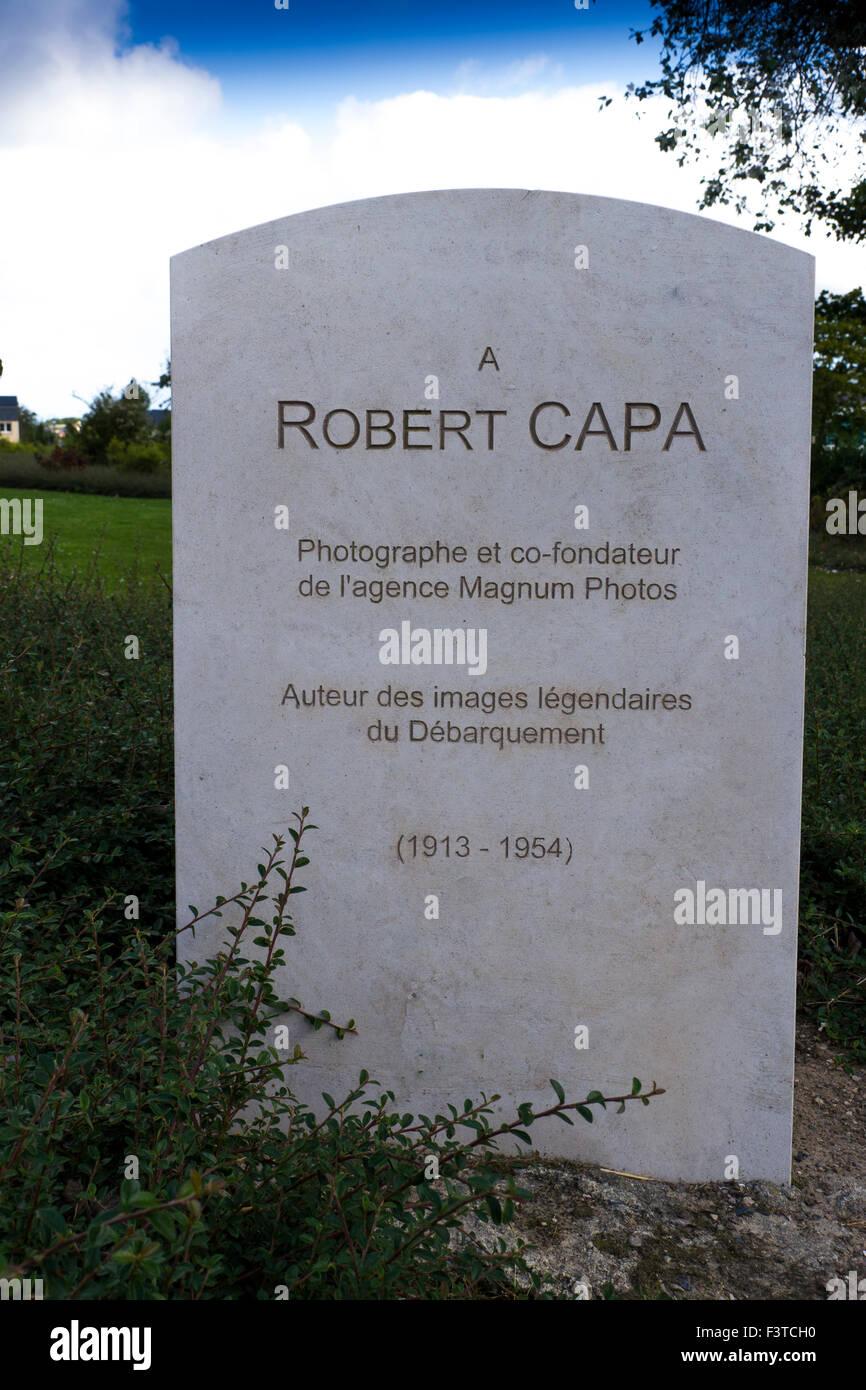 Robert Capa Memorial , Bayeux. Normandía Foto de stock
