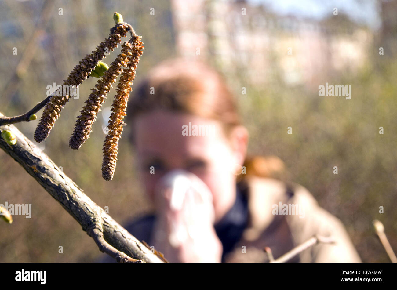 Alergia Foto de stock