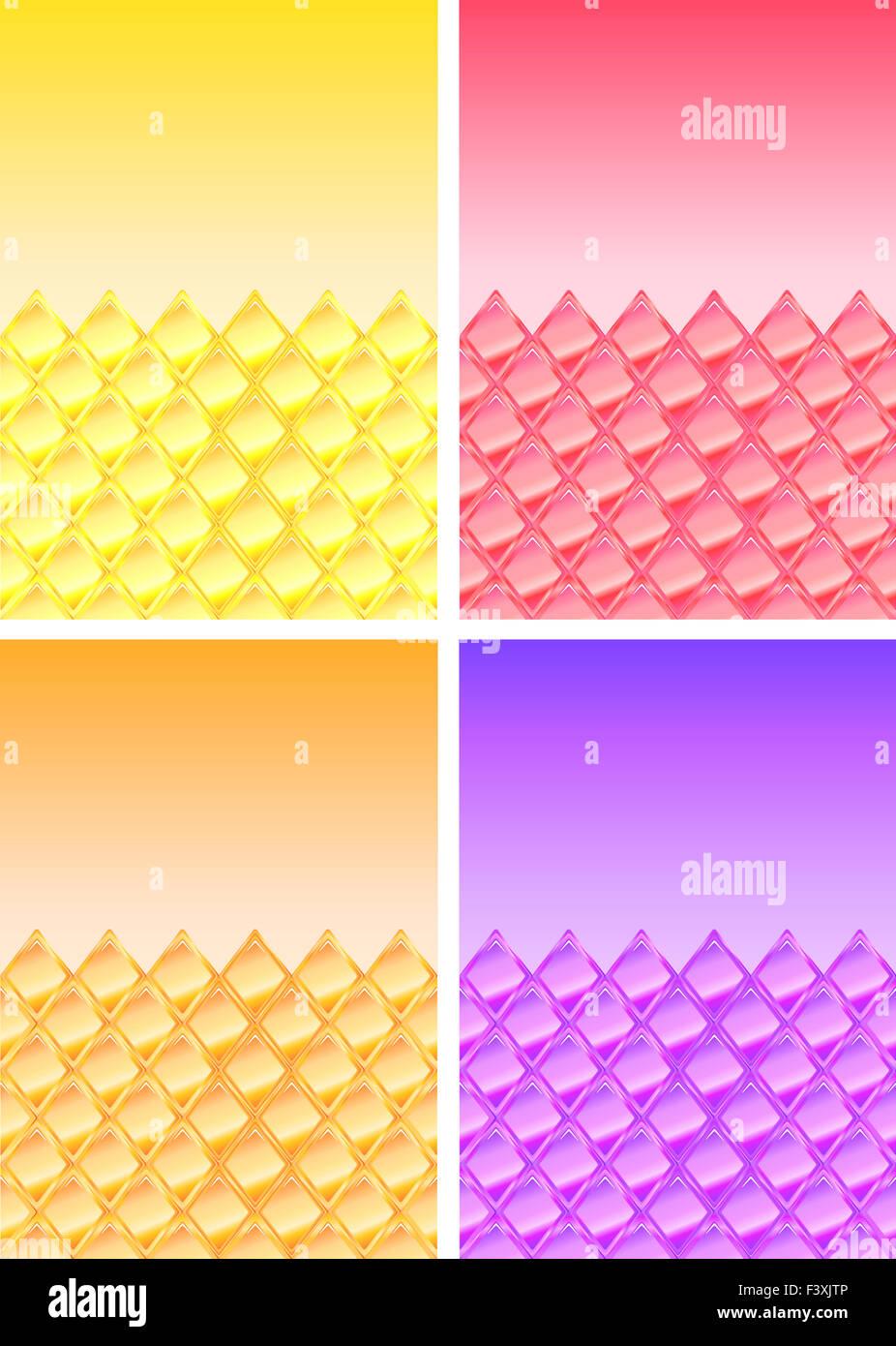 Antecedentes ilustración con rhombes Imagen De Stock