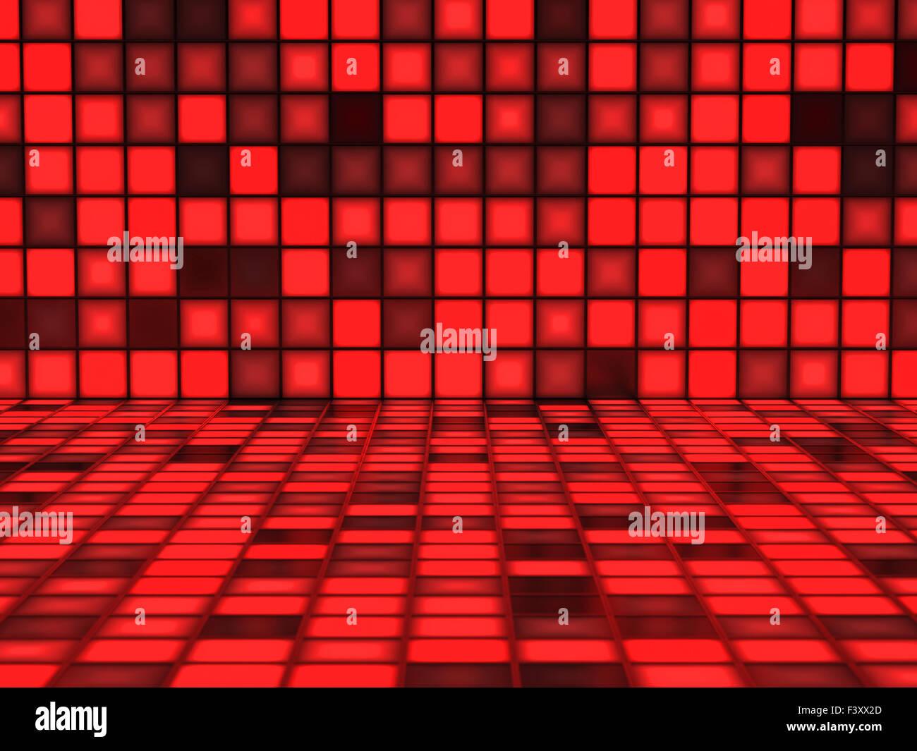 Fondo rojo con trazos encendidos Foto de stock