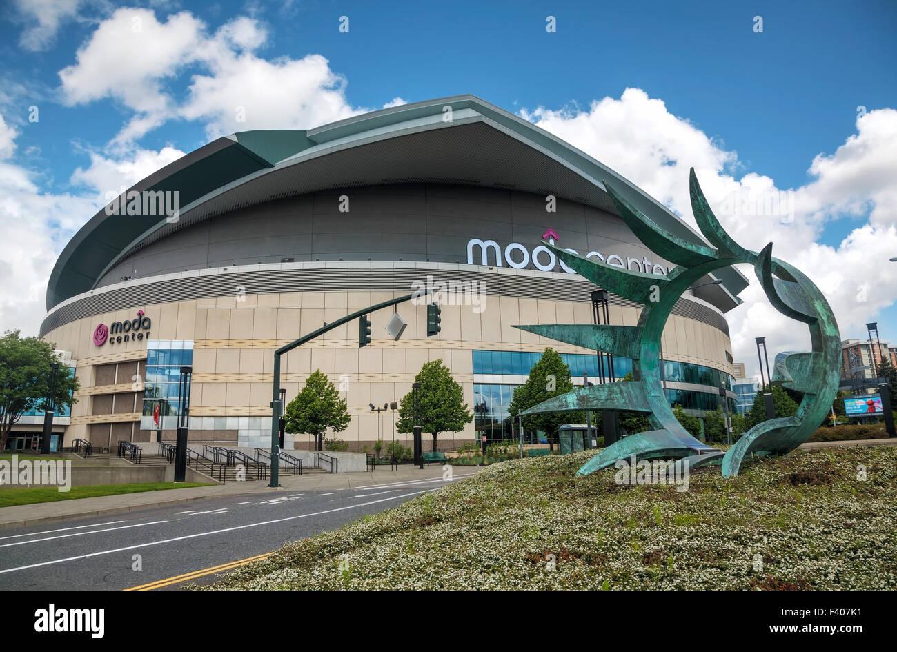 Moda Center en Portland, Oregón Imagen De Stock