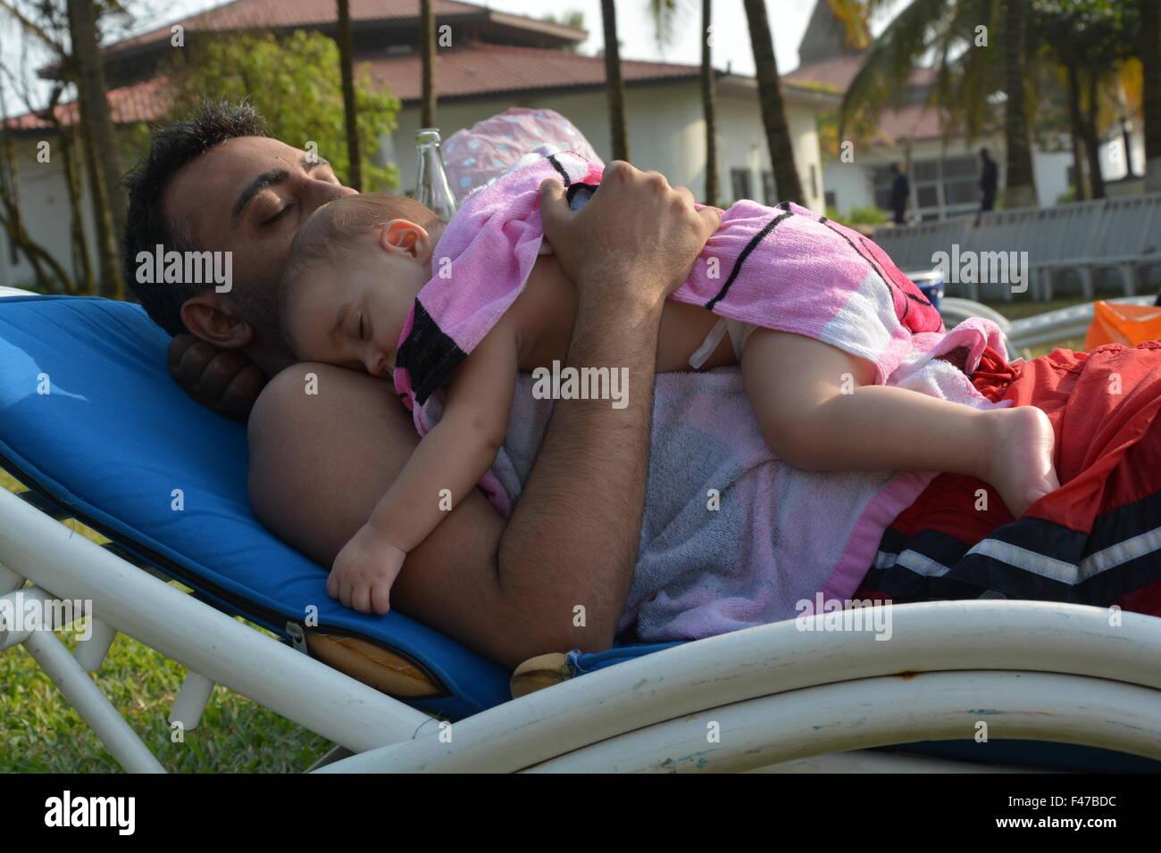 La hora de la siesta al aire libre Imagen De Stock