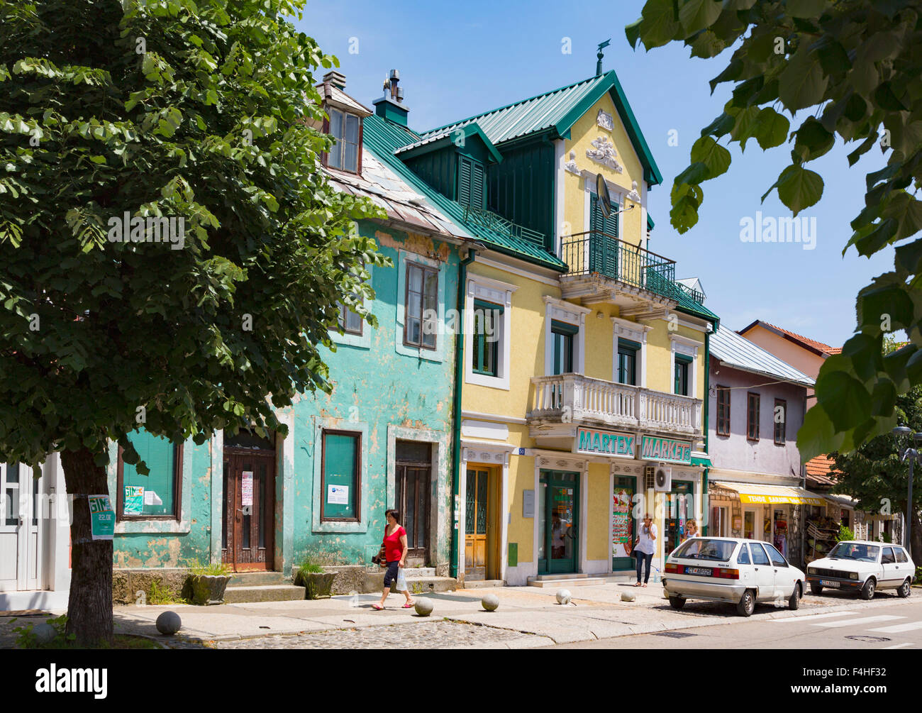 Cetinje, Montenegro. Escena típica en Baja Pivljanina street Imagen De Stock