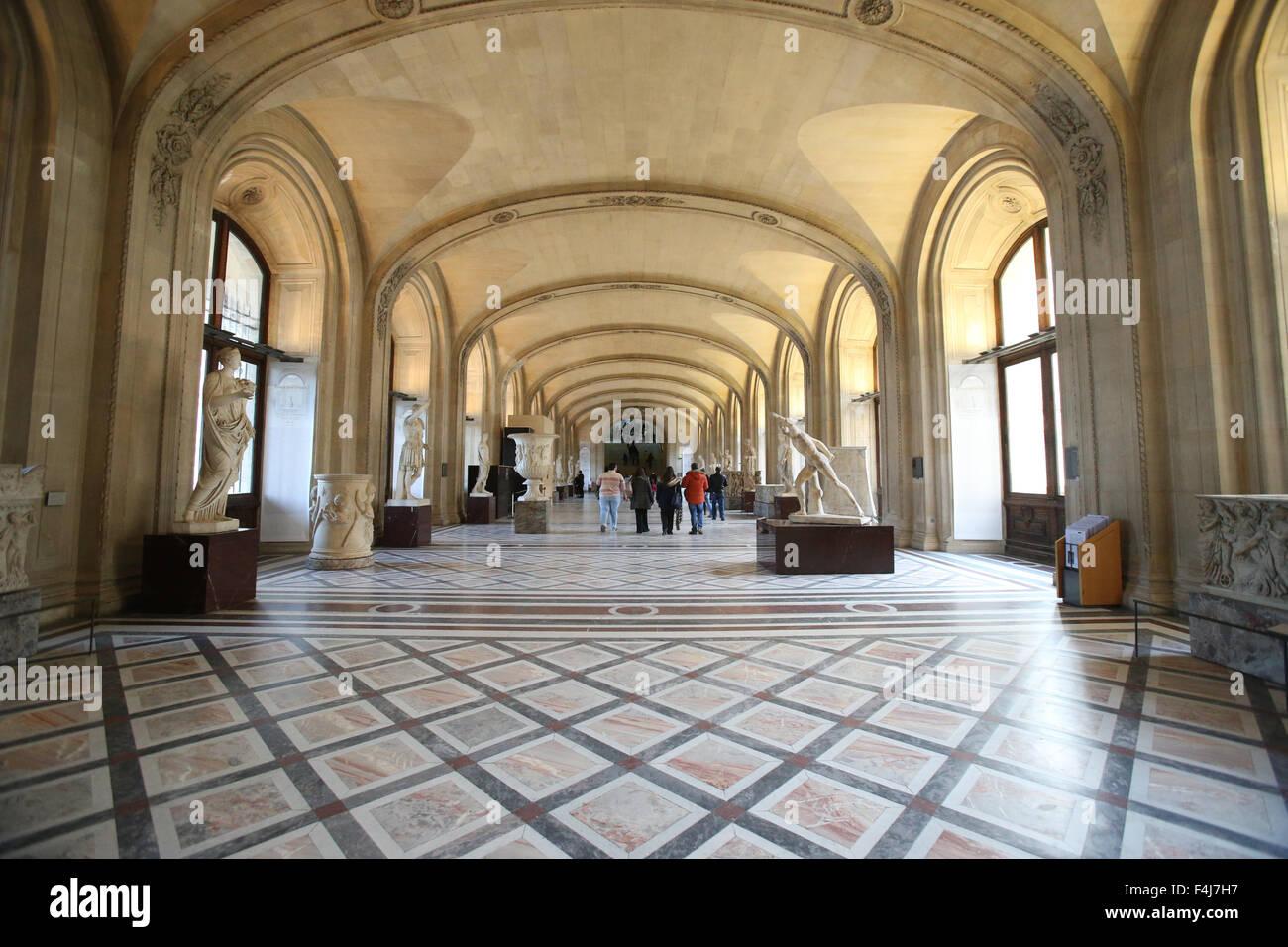 El Museo del Louvre, París, Francia, Europa Foto de stock