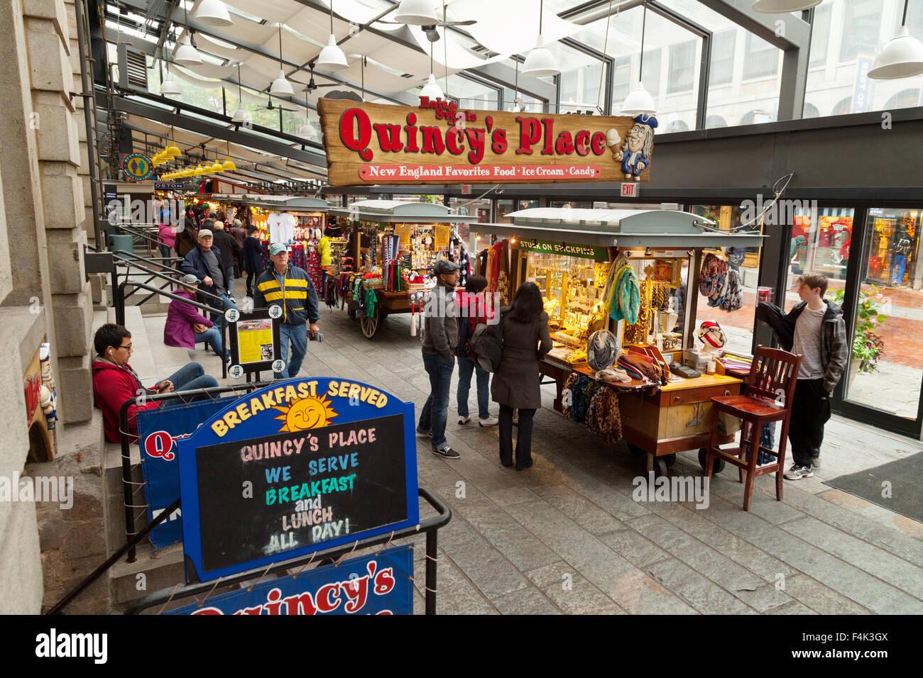 Una escena en el mercado de Quincy, Boston, Massachusetts EE.UU. Imagen De Stock