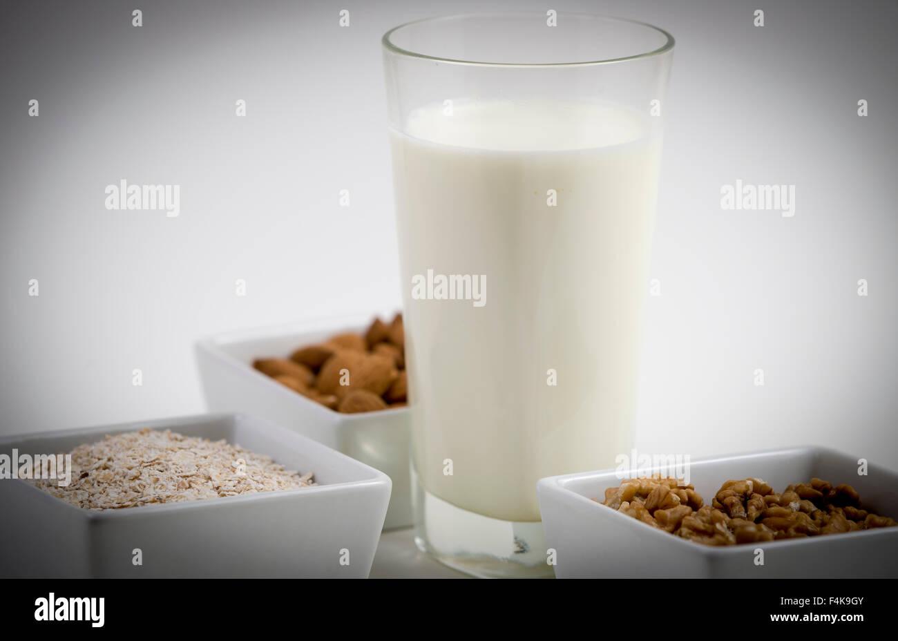 Leche y productos naturales Imagen De Stock