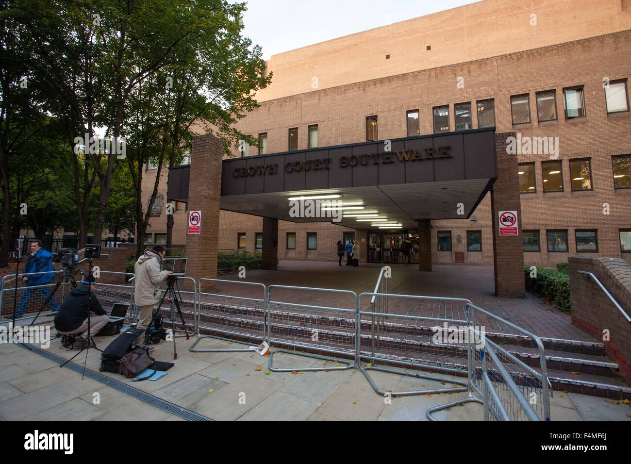Vista general GV de Southwark Crown Court Imagen De Stock