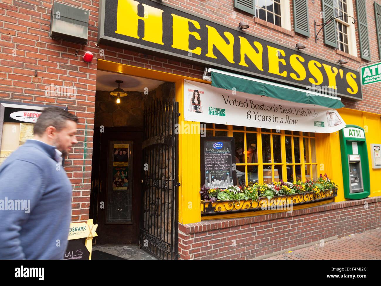 Hennessy's Irish Pub, el centro de Boston, Massachusetts, EE.UU. Imagen De Stock