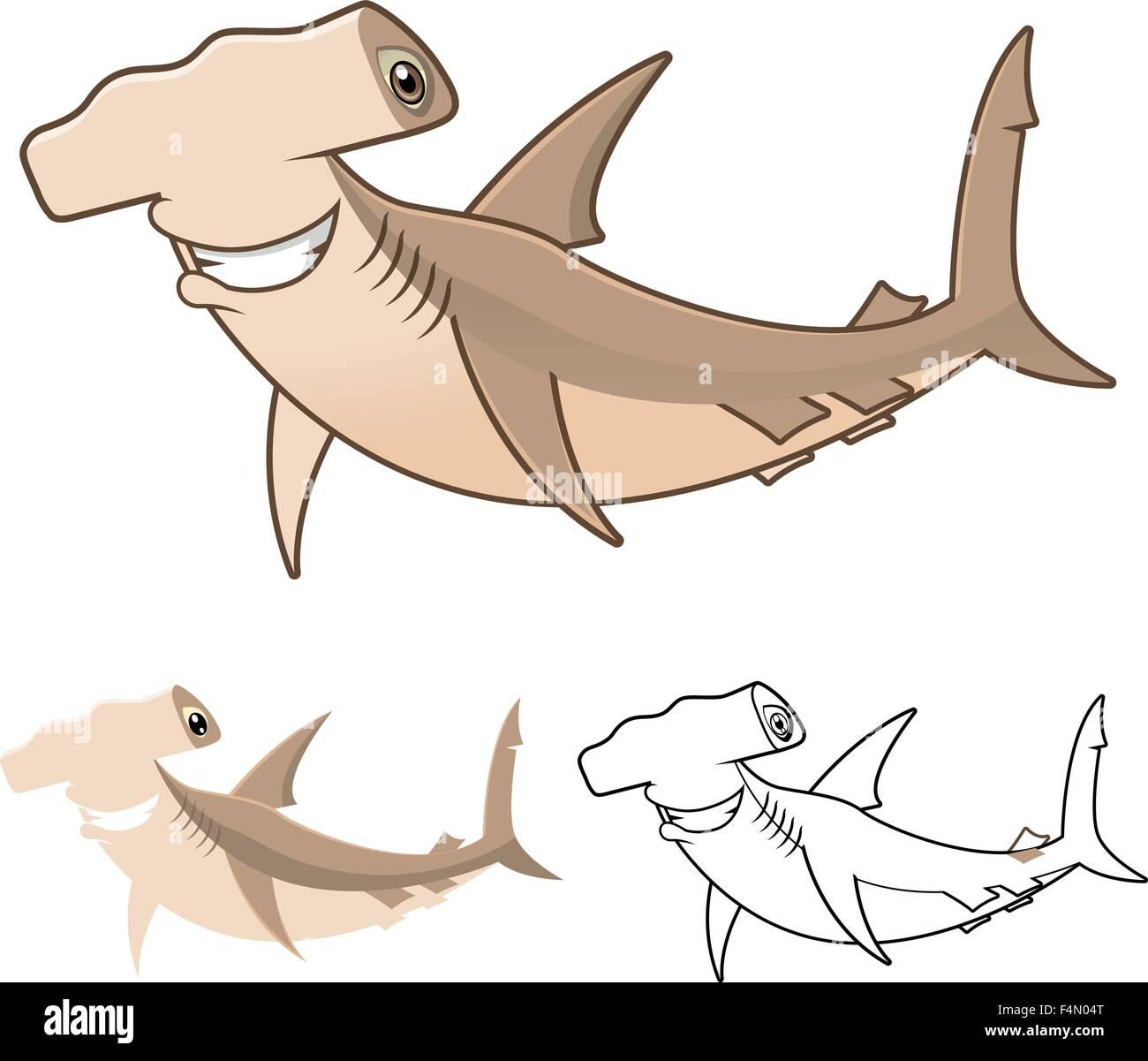 Cartoon Happy Shark Imágenes De Stock & Cartoon Happy Shark Fotos De ...