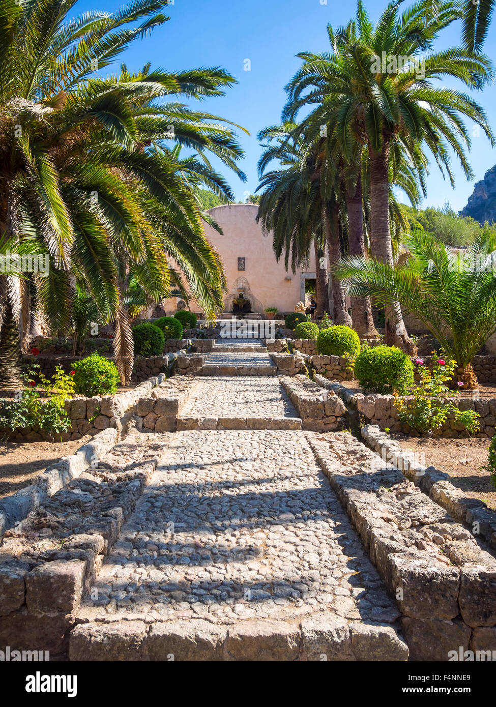 Los jardines de Alfàbia, mansión de los jardines árabes, la Sierra de Alfàbia, Mallorca, España Imagen De Stock