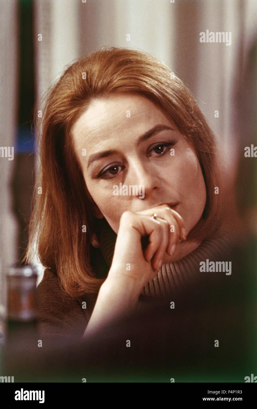 Annie Girardot / Vivre pour vivre 1967 dirigida por Claude Lelouch Foto de stock