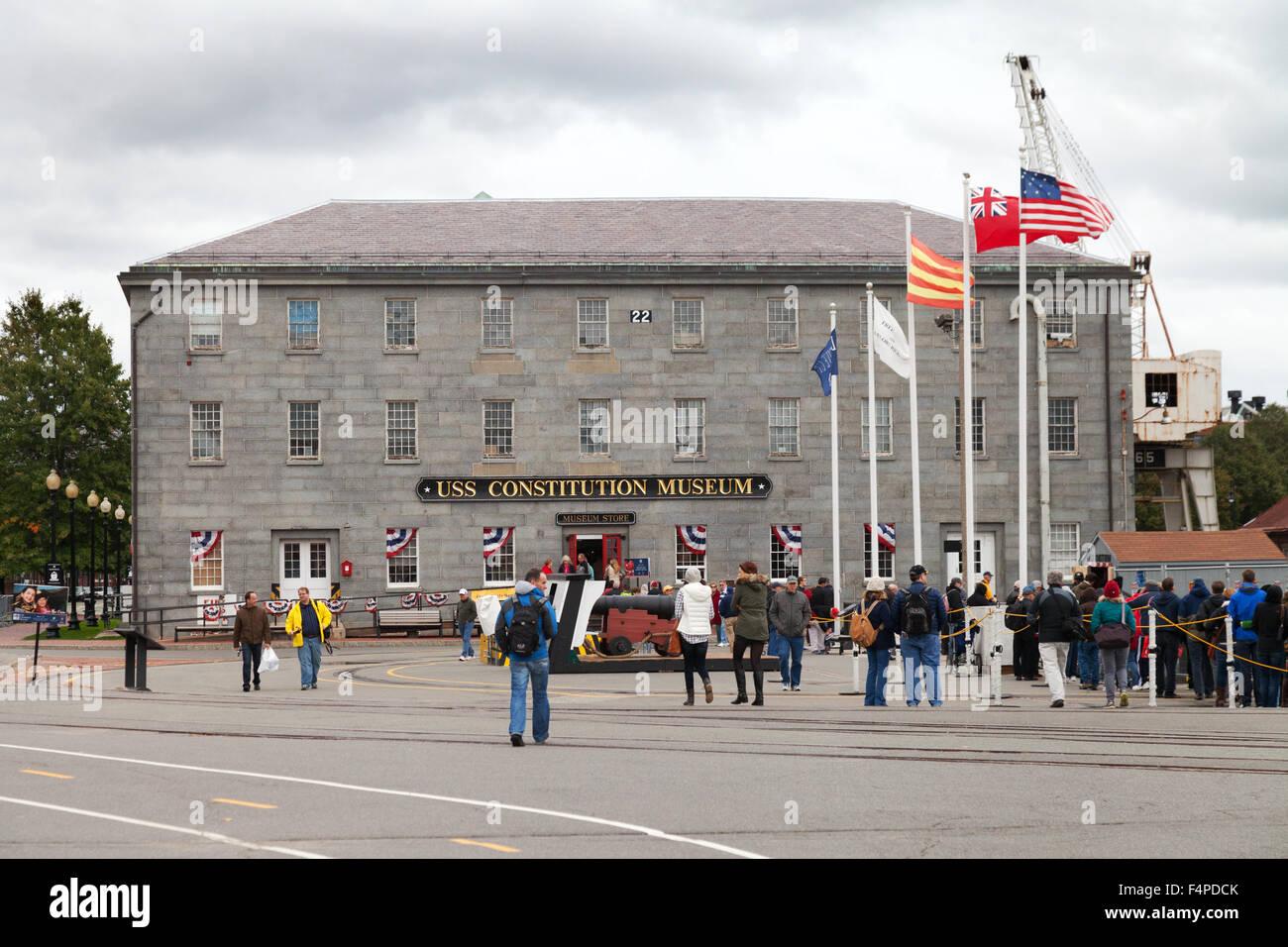 El USS Constitution edificio del museo, en el Freedom Trail de Boston, Massachusetts, EE.UU. Imagen De Stock