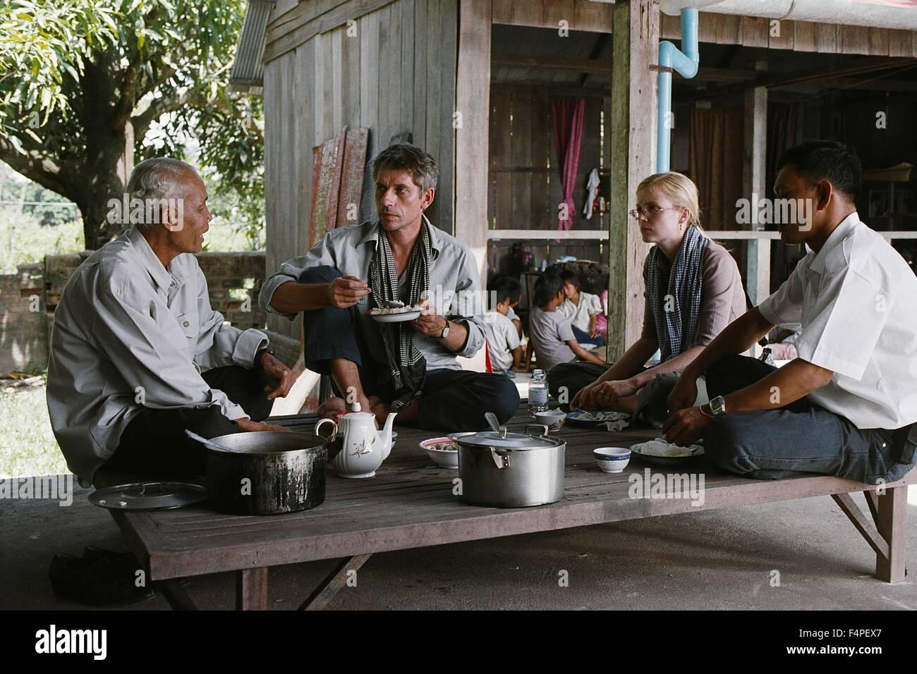 Jacques Gamblin e Isabelle Carré / Holy Lola / 2003 dirigida por Bertrand Tavernier Imagen De Stock