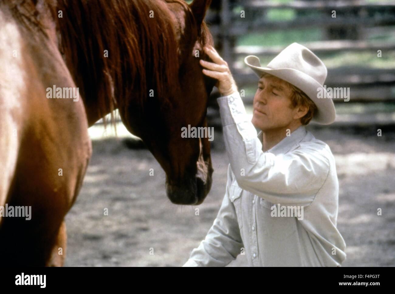 Robert Redford / El caballo Whisperer / 1997 dirigida por Robert Redford Imagen De Stock
