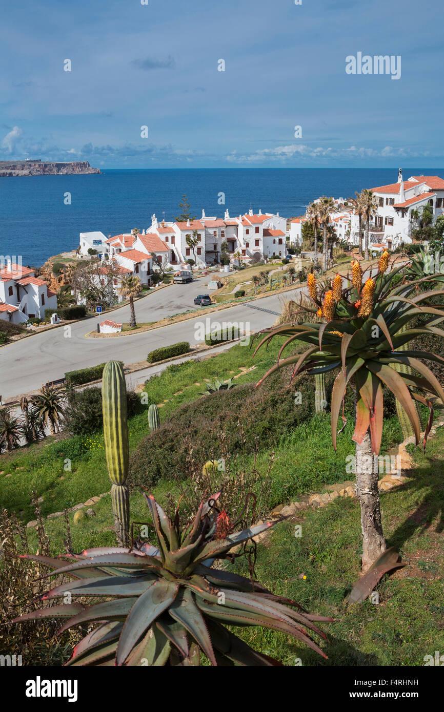 Fornells, Paisaje, Menorca, Islas Baleares, España, Europa, Primavera, arquitectura, Baleares, colorido, Mediterráneo, Imagen De Stock