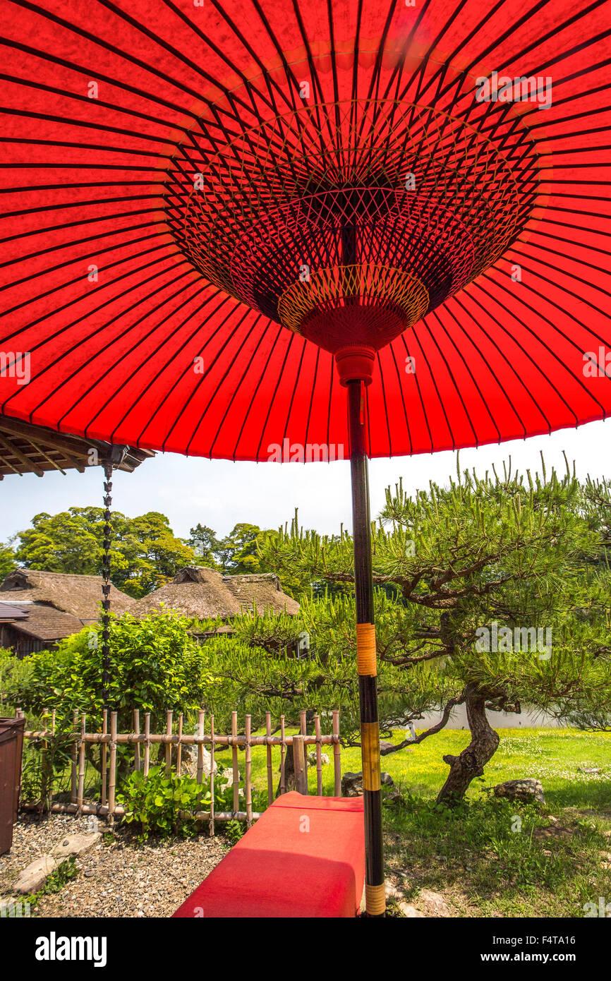 Japón, la provincia de Shiga, Hikone ciudad, casa de té Imagen De Stock