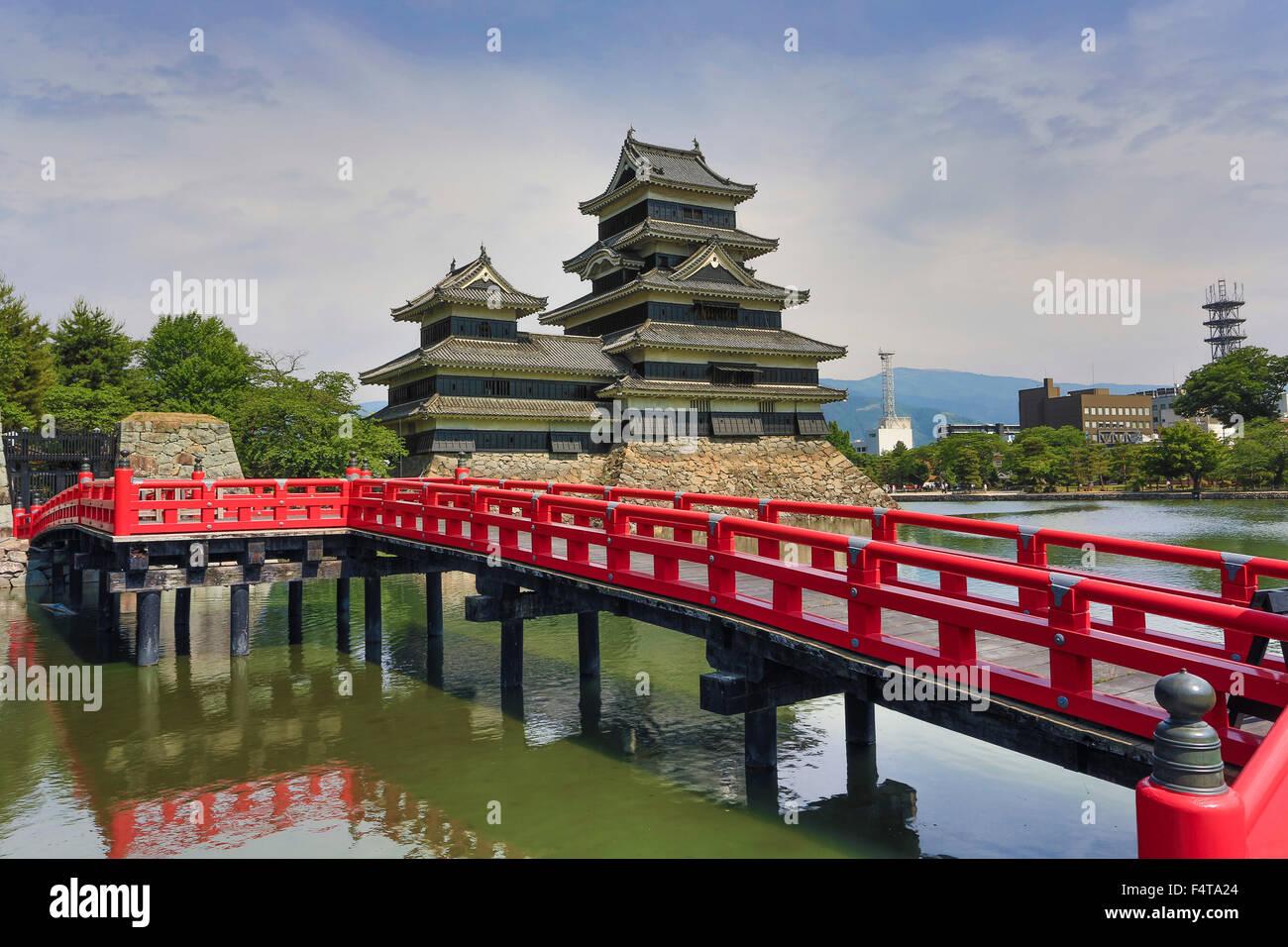Provincia de Nagano, Japón, Matsumoto ciudad castillo Matsumoto Imagen De Stock