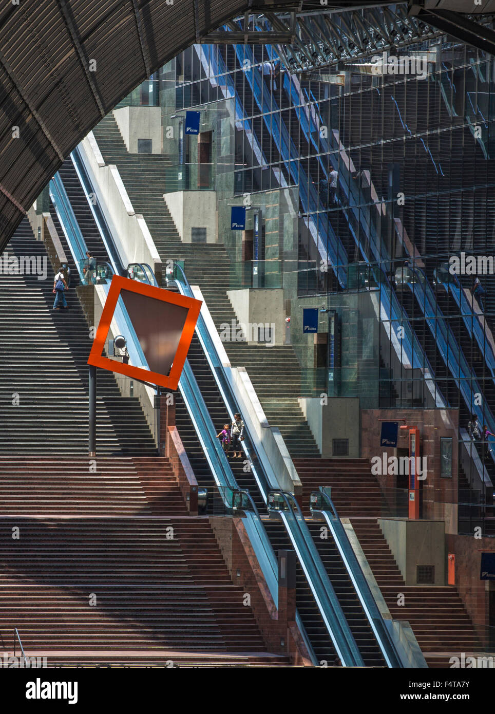 La ciudad de Kyoto, Japón, estación de tren de Kioto, interior Foto de stock