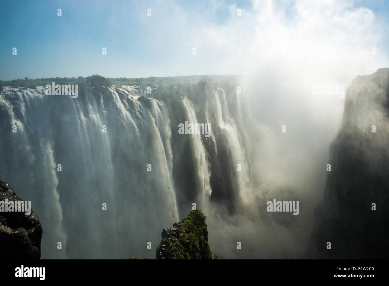 Victoria Falls, Zimbabwe - Victoria Falls Cascada Imagen De Stock