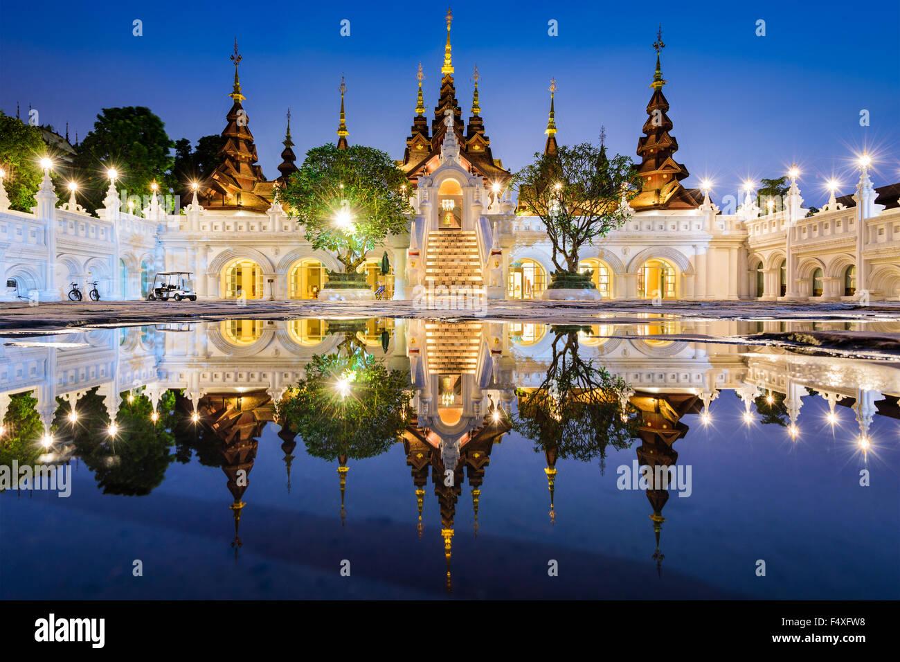 Chiang Mai, Tailandia hotel tradicional. Imagen De Stock